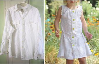 Шьем платье для девочки из рубашки