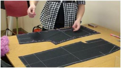 уроки шитья, соединение деталей изделия, шитье, шить самой, как шить
